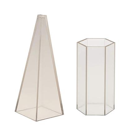 P Prettyia Pirámide Molde Plástico para Molde Vidrio de Joyería DIY Arte Decorativo Torta
