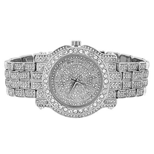Diamond & Co. Quartz Stainless Steel and Plated Watch, Color:Gold-Toned (Model: (Face Diamond Watch)
