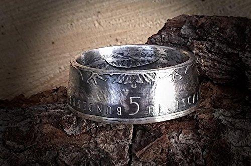 Coinring Münzring Ring Aus Münze 1977 Offizielle 5 Dm Gedenkmünze