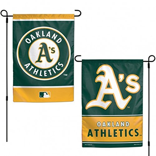 Stockdale Oakland Athletics A's WC GARDEN FLAG Premium 2-sided Banner Outdoor Baseball ()