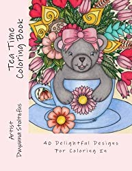 Tea Time Coloring Book: 40 Delightful Designs for Coloring in