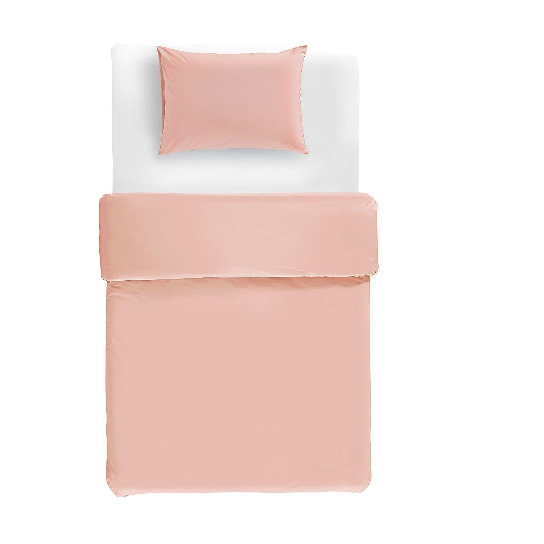Twin//Twin XL Basics Lightweight Percale Cotton Duvet Set Dusty Rose