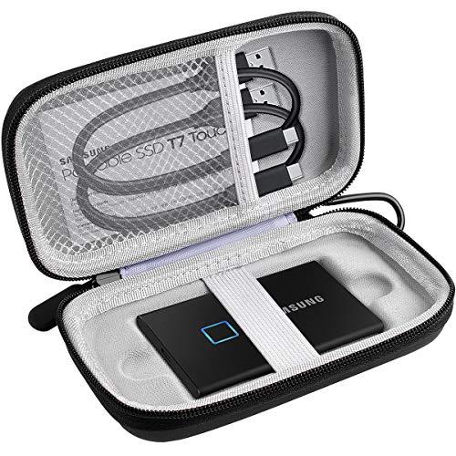 Case Compatible for Samsung T7 Touch Portable SSD - 1TB 2TB 500GB - USB 3.2 (MU-PC1T0K/WW)-Black