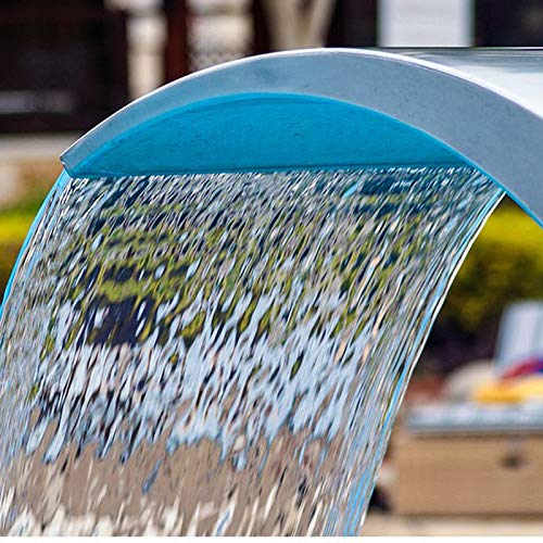 6030cm Stainless Steel Pool Accent Fountain Pond Garden Swimming Pool Waterfall Feature Faucet