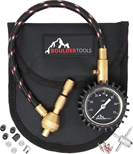 1 Valve Tool - Boulder Tools All New Heavy Duty Rapid Tire Deflator Kit with Valve Caps, Valve Cores & 4-in-1 Tire Valve Tool