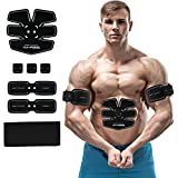 Abs Stimulator Portable Abdominal Toning Belt Muscle Toner USB Chargable Abs Muscle Trainer with 6 Modes and 15 Levels for Abdomen,Arm,Thigh,Waist Support for Men and Women