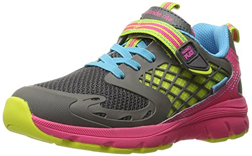 Stride Rite Kids Made 2 Play Cannan Athletic Running Shoe, Pink/Grey, 2.5 W US Little Kid