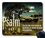 Inspirational Bible Verse Quotes Psalm 149:4 Oblong Mouse Pad in 240mm*200mm*3mm VQ0711001