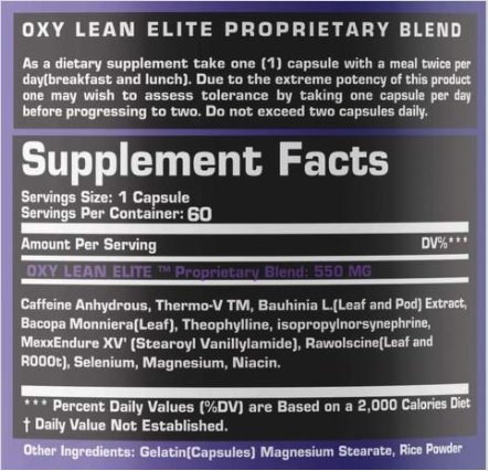 GenOne Nutrition Oxy Lean Elite Thermogenic Fat Burner Weight Loss Supplement For Men & Women, Energy Booster, Appetite Suppressant, OxyLean 60 Capsules