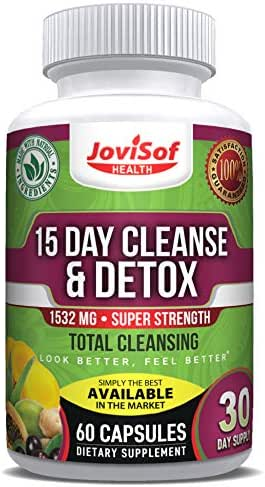 15 Day Premium Natural Colon Cleanse Detox | Liver Cleanse Gas Relief Constipation Relief |Probiotic Supplement- Fiber Pills Kidney Cleanse Energy Supplement No Need for Juice Cleanse Or Water Pills.