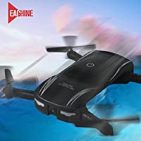 Lookatool 2.4G 4CH Altitude Hold HD Camera WIFI FPV RC Quadcopter Pocket Drone Selfie Foldable, Black