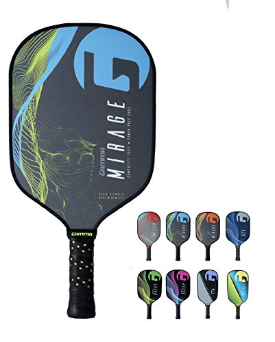 Gamma Mirage Composite Pickleball Paddle: Pickle Ball Paddles for Indoor & Outdoor Play - USAPA Approved Racquet for Adults & Kids - Blue/Yellow