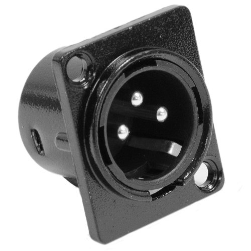 Seismic Audio SAPT214 XLR Male Panel Mount Connector and Fits Series D (Series Xlr Connector)