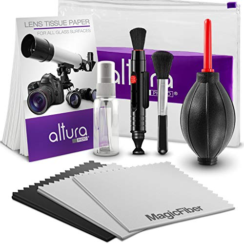 Altura Photo Professional Cleaning Kit for DSLR Cameras and Sensitive Electronics Bundle with Refillable Spray Bottle