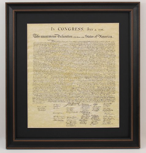 Framed Declaration of Independence with Black Matte by PatriotGearCompany