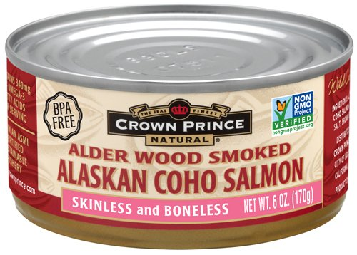 Crown Prince Natural Smoked Alaskan Coho Salmon, 6-Ounce Cans (Pack of 12) (Smoked Salmon Canned compare prices)