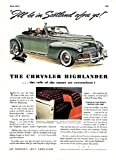 "Esquire 7/1940. Original magazine page. NOTE: You are buying a magazine page, a piece of paper. Sheet size given is approximate. [10 1/2 x 14""+/-]. Two page ads noted. Occasional small edge splits not affecting image or type may be present.  ..."