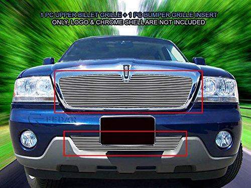 Lincoln Aviator Billet - Kovit 2003-2005 Lincoln Aviator Combo Billet Grille Grille 2-pcs Set-Polished