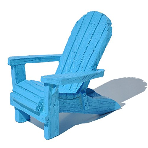 Miniature Fairy Garden Traditional Adirondack Chair, Colo.