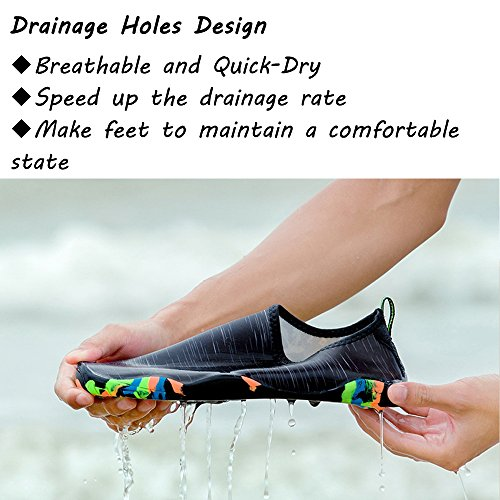 for Skin BIGU Boating Snorkeling Water Shoes Black Quick Shoes Beach Shoes for Socks Barefoot Unisex Aqua db Womens Slip On Swimming Drying Park Yoga Mens Shoes Sports Walking TZZrnx0