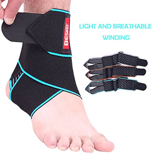Ankle Support, Beskey Adjustable Ankle Brace Breathable Nylon Material...