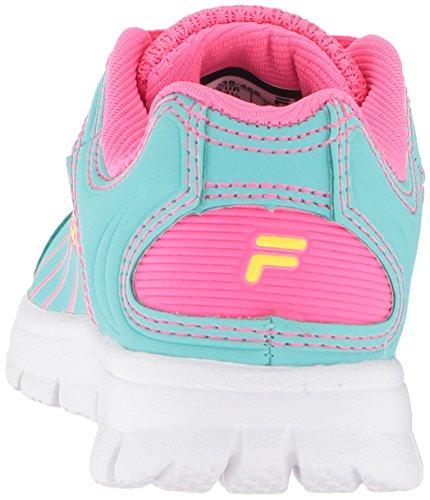 Pictures of Fila Girls' Star Runner Skate Shoe Aruba 3SR21036 Aruba Blue/Knockout Pink/Safety Yellow 8