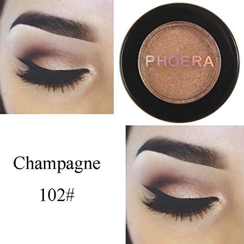2# PHOERA Mashed Potato Monochrome EyeShadow Pearlescent Polarized Sequin Eyeshadow European Color