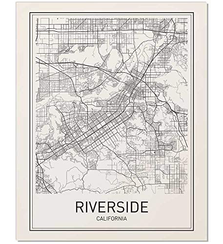 - Riverside Poster, Map of Riverside, Riverside Map, City Map Posters, Modern Map Art, Minimal Map Art, Minimal Print, California Art, City Poster, City Map Wall Art, Minimalist Posters, 8x10