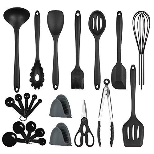 POENSCAE Kitchen Utensils,Cooking Utensils Set, 22-Piece Silicone Utensils Set, Kitchen Cooking Tool,BPA Free Kitchen…
