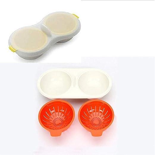 Escalfador de huevos para microondas de 2 cavidades, doble ...