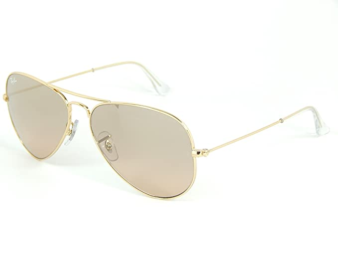 4ce51eaa9 Image Unavailable. Image not available for. Colour: New Ray Ban Aviator  RB3025 001/3E Gold/ Silver Pink Mirror 55mm Sunglasses