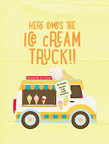 Caroline's Treasures SB3107GF Here Comes The Ice Cream Truck Flag, Small, Multicolor