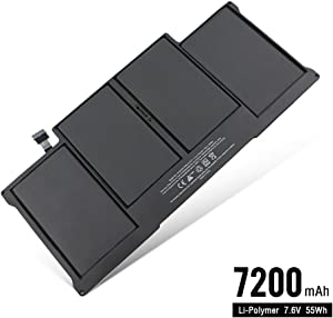 CMP 7200mAh/55Wh Laptop Battery (Cycles Charge > 800 Times) for MacBook Air 13 Inch A1405 A1377 A1496, A1369 (Late 2010 Mid 2011 Version) A1466 (Mid 2012 Mid 2013 Early 2014 Version) (A1405-7200-1)