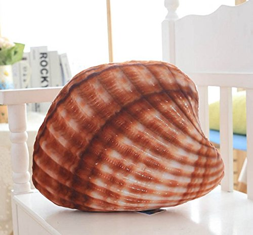 Stuffed Short Plush Conch Shells And Starfish Marine Organisms Food Neck Pillow Cushions Nap Doll Home Essential Quilt for Air Condition Room (Small shells: 36cm36cm)