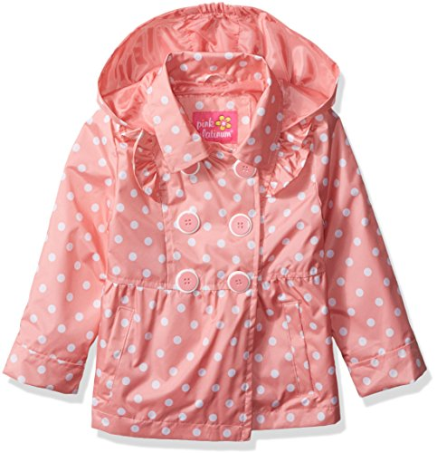 pink platinum trench rain jacket - 7