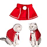 wanshenGyi Dog Clothes, Pet Dog Fluffy Ball Mantle Cape Clothes Winter Christmas Party Puppy Cat Coat - M, Shopping, Travel, Home
