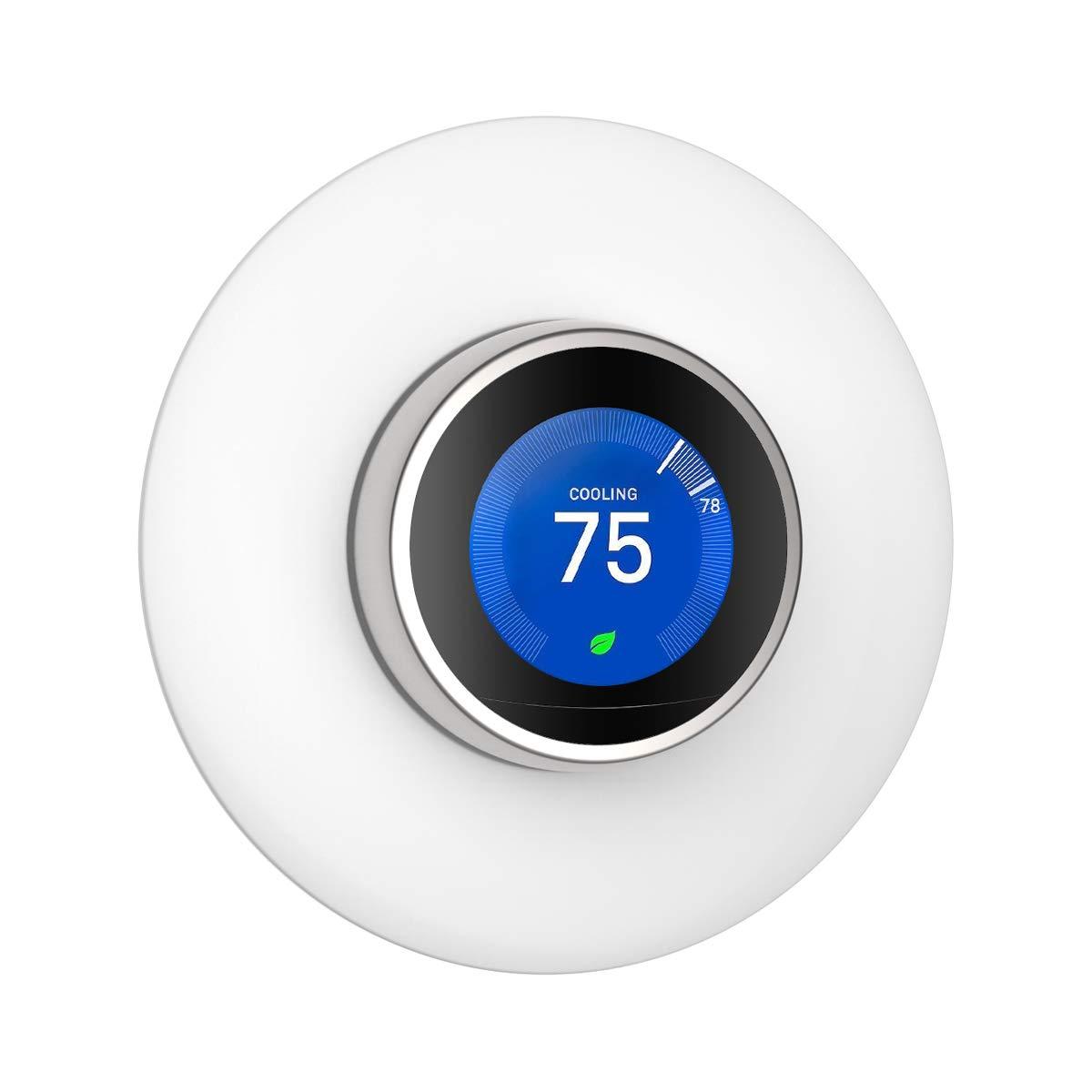 Wigoo Cubierta de placa de pared para Nest Learning Thermostat para tercera generació n (no compatible con Nest E) - Blanco 16cm