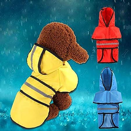 BIGBOBA Impermeable Ropa para Mascotas Gabardina con Capucha para Perros para Gatos Perros para la Lluvia Deportivo