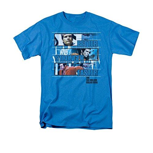 - Sons of Gotham Six Million Dollar Man Better Stronger Faster Adult T-shirt Xl