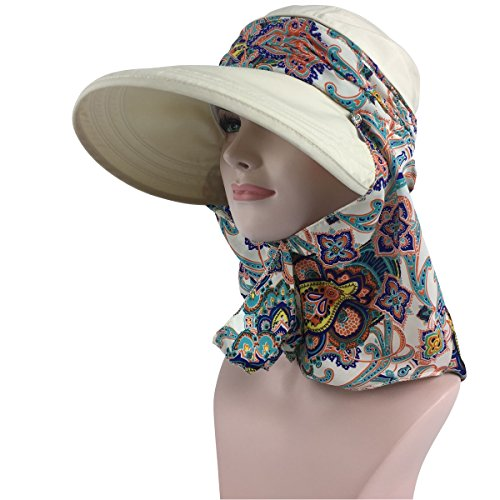 03b0a523 Lanzom Women Lady Wide Brim Cap Visor Hats UV Protection Summer Sun Hats  (White)