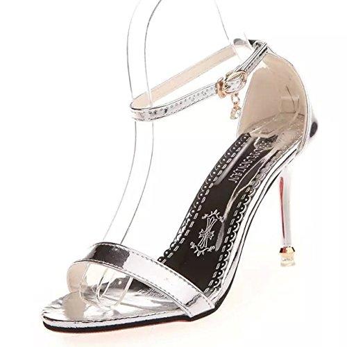 Rose Taichung Fuit Couleur Talons Chaussures Sandales Et Qui SHOESHAOGE unie Des Avec Avec Fine ZqpnwHA1