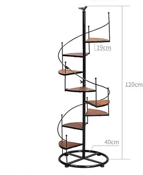 Wildlead Hierro Forjado diseño Escalera de Caracol de Varias Capas de la Moda Flor de Plantas de Flores Hermosas Muebles de terraza salón Interior y Exterior Terraza (tamaño: 01),02: Amazon.es: Hogar