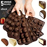 Silicone Candy Molds + 5 Recipes eBook - 6 Pack - Ideal Silicone Molds For Fat Bombs - Chocolate Molds