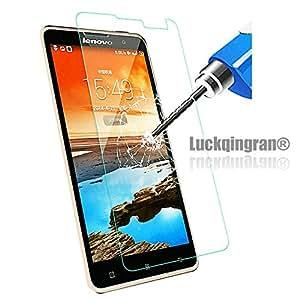 Luckqingran™ Brand New Genuine Original Premium Tempered Glass Screen Protector Guard Film for Lenovo S650 Mobile Phone