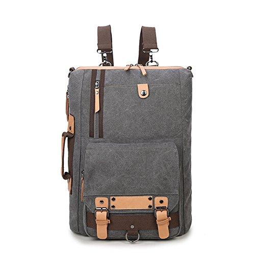 computer Wybxa grigio con per uomini Backpack portatile una e donne New Canvas retro Canvas spalla multifunzione valigetta Cxn6arCp