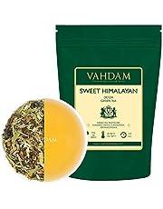 VAHDAM, Süßer Himalaya Detox Grüner Tee Loses Blatt (100 Tassen) | 100% NATÜRLICHER DETOX TEE | Green Tea, Stevia, Kurkuma, Shatavari, Kardamom, Ashwagandha | 100gr