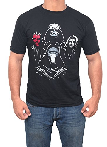 Miracle Star Wars Darth Vader Shirt - Kylo Ren - Darth Maul Villains Shirt (Medium)