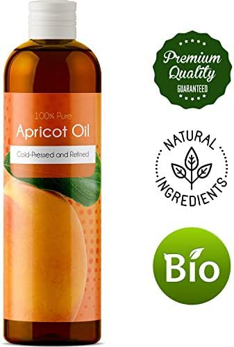 100% Pure Kernel Oil Apricot Kernel Seed Oil for Face Skin and Hair Growth Carrier Oil for Aromatherapy Massage Natural Anti-Aging Skin Care Daily Moisturizer for Women and Men with Dry Sensitive Skin