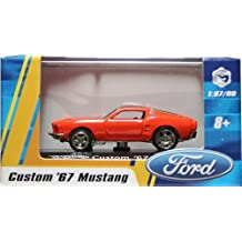 1:87 / HO SCALE CUSTOM '67 MUSTANG (GOLD) Hot Wheels Vehicle & Acrylic Display Case