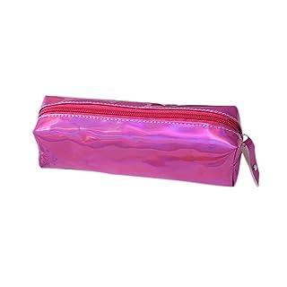 Mackur 1PCS astuccio con cerniera cancelleria della trousse 19*9*6CM Pink